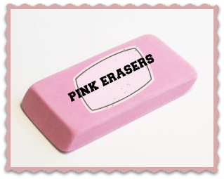 Pink Erasers