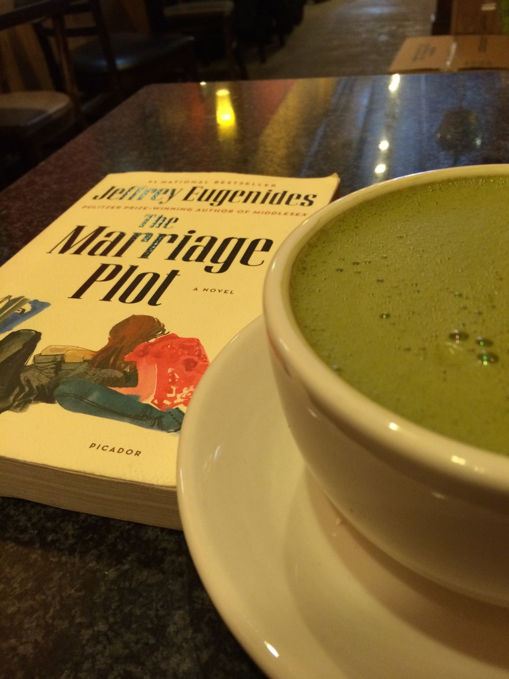 Green Tea Latte from Simon's Coffee, Cambridge, MA