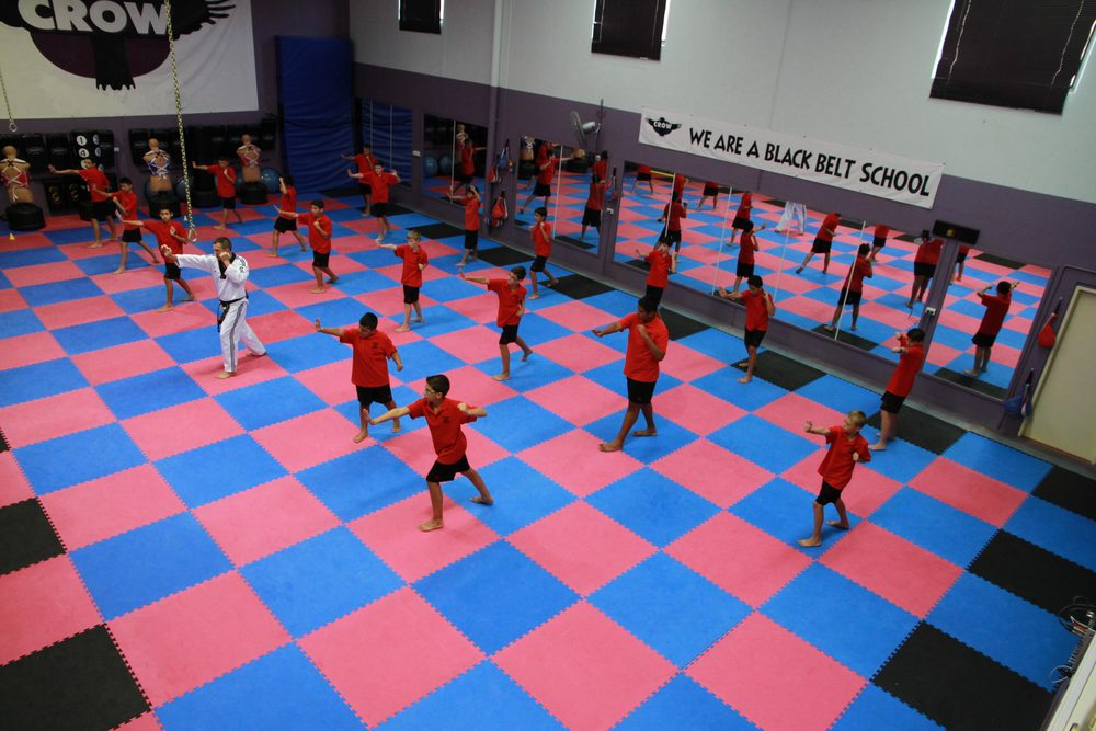 Students learning the basics of Martial Arts