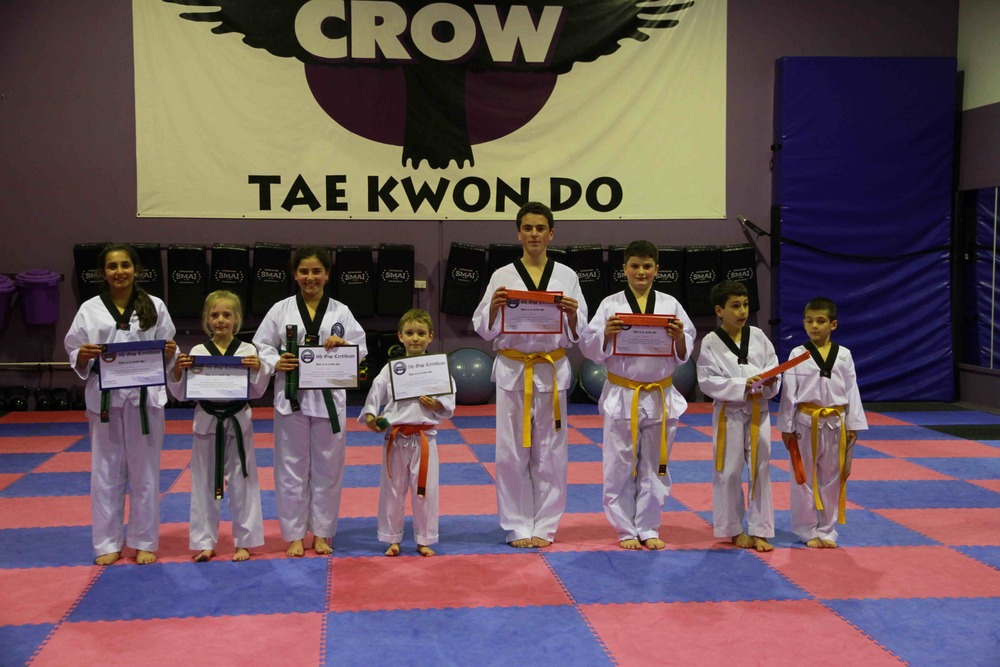Juniors with their new belts