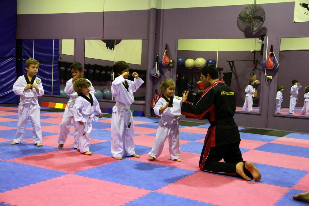 Little Ravens learn basic Martial Arts skills in each lesson