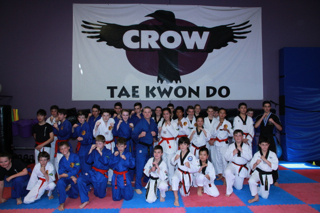 Students from Crow Martial arts and the Northern Dragons after the grading