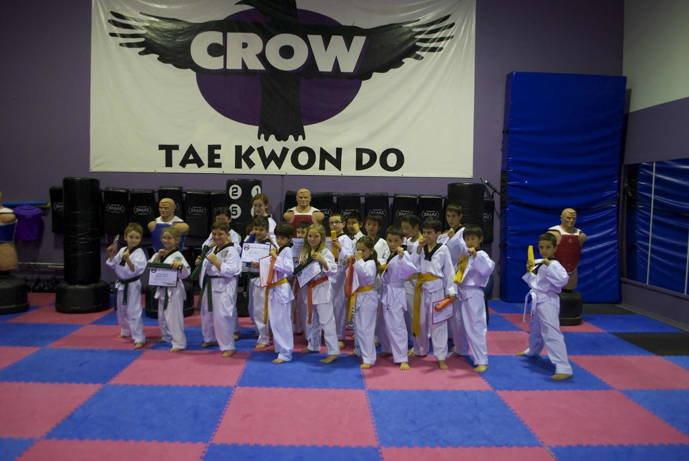 Crow kids after the grading