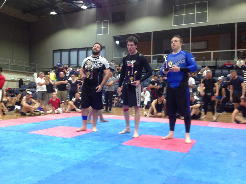 The heavyweights get their trophies after the No-Gi fights
