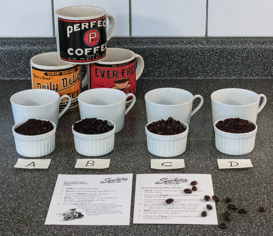 Photo & DIY Sparkplug Coffee cupping by Mark Beauchamp Photography.