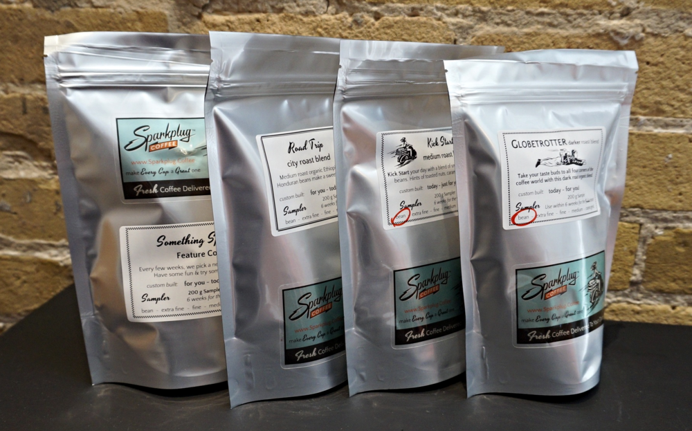 try the Coffee Sampler and find the blend you love most