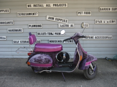 "A ""before"" pic of Perlita from a cottage trip to the Kawarthas. Come to the Motorcycle Spring Show and see her new look!"