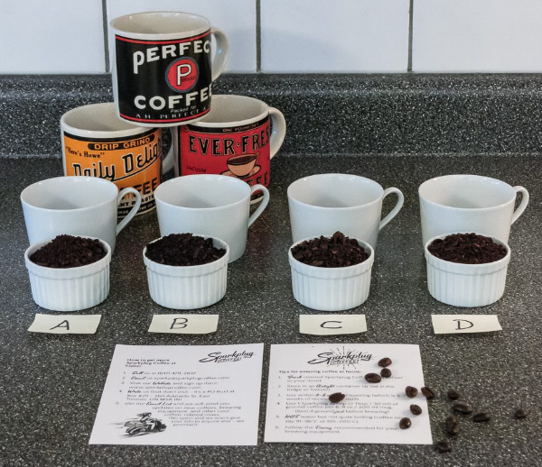 Photo & DIY Sparkplug Coffee cupping by Mark Beauchamp Photography  .