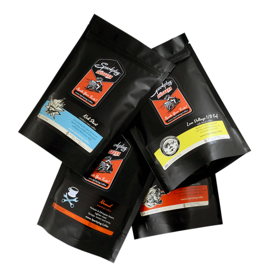 a Coffee Sampler makes a great gift - 4 distinct coffees to enjoy and compare
