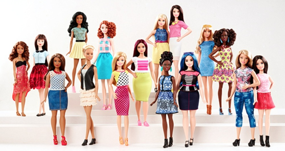 Screenshot from Mattel.com that displays variety of dolls being released throughout 2016