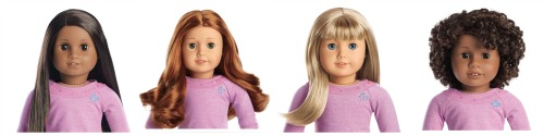 A sampling of American Girl's Truly Me™ Doll line.