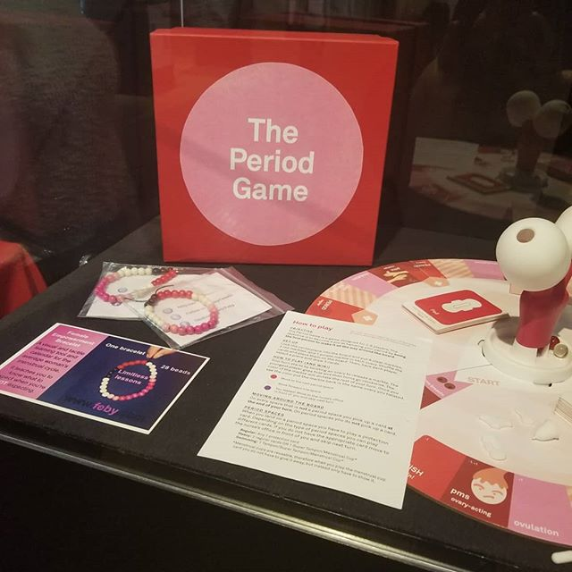 Is there a word for when a dream comes true but you didn't even know it was a dream of yours until the moment that it was realized?  I think there should be just such a word because I have experienced just such a phenomenon and it is a lovely, transcendental, and slightly surreal, feeling.  The Female Empowerment Bracelet is part of an exhibition called FLOW The Menstruation Exhibition at THEMUSEUM in Kitchener, Ontario. How awesome is that?  This exhibit has been curated by Virginia Eichhorn and sponsored by Diva International, the creators of the DivaCup.  There are a multitude of artworks and installations depicting menstruation by local artist which enlightens along with prompting a deeper conversation.  If you live in the general area I encourage you to visit THEMUSEUM before this exhibit ends on May 28.  #menstruation #museum #art #healthydialogue #menstruationmatters #empowerment