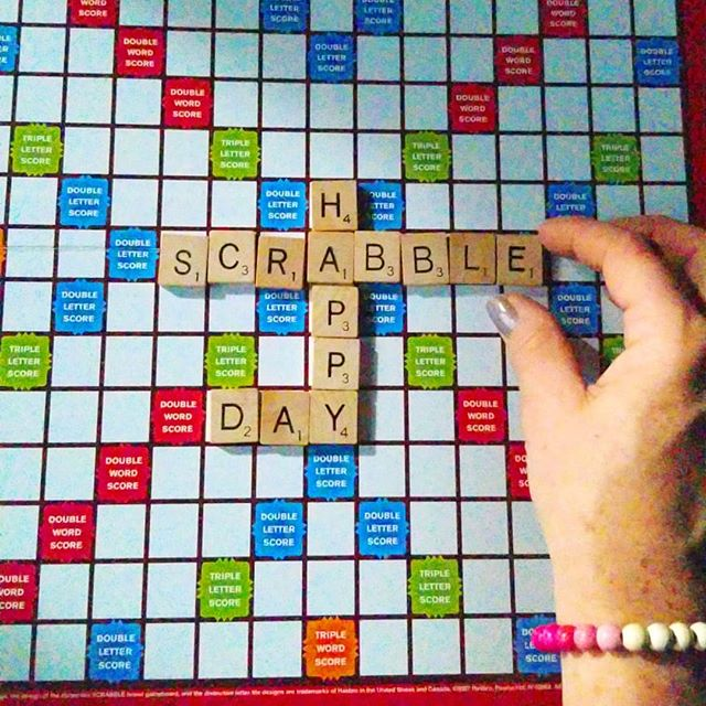 Happy national #scrabbleday beautiful people.  Scrabble is a great game that can be played by all ages and has the ability to potentially expand your vocabulary. Like if you agree.