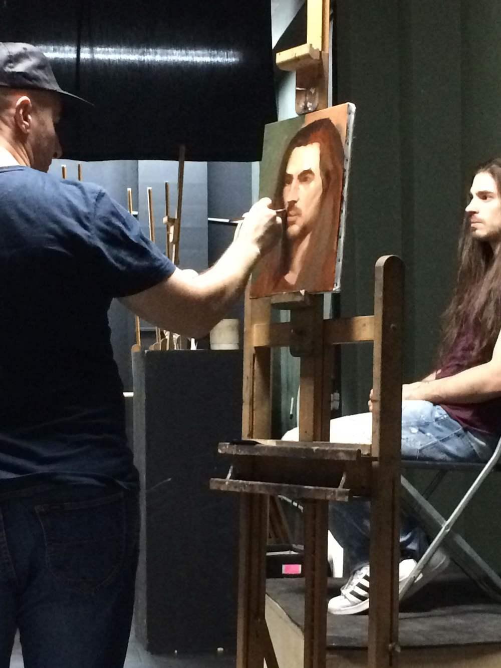 Day 2 - Martinho Correia (instructor) gives a portrait demo.