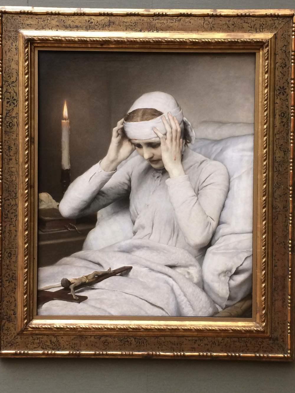 Gabriel von Max The Ecstatic Virgin Anna Katharina Emmerich