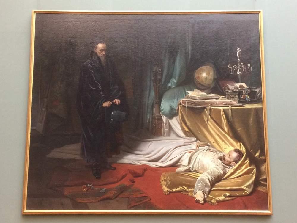 Carl Theodor von Piloty Seni at the Dead Body of Wallenstein