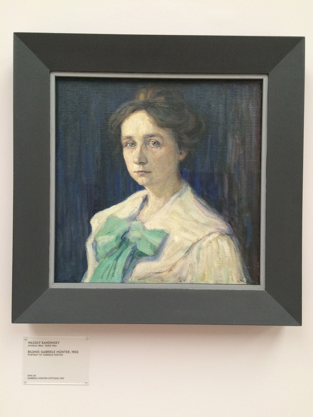 Portrait of Gabriele Münter, Wassily Kandinsky