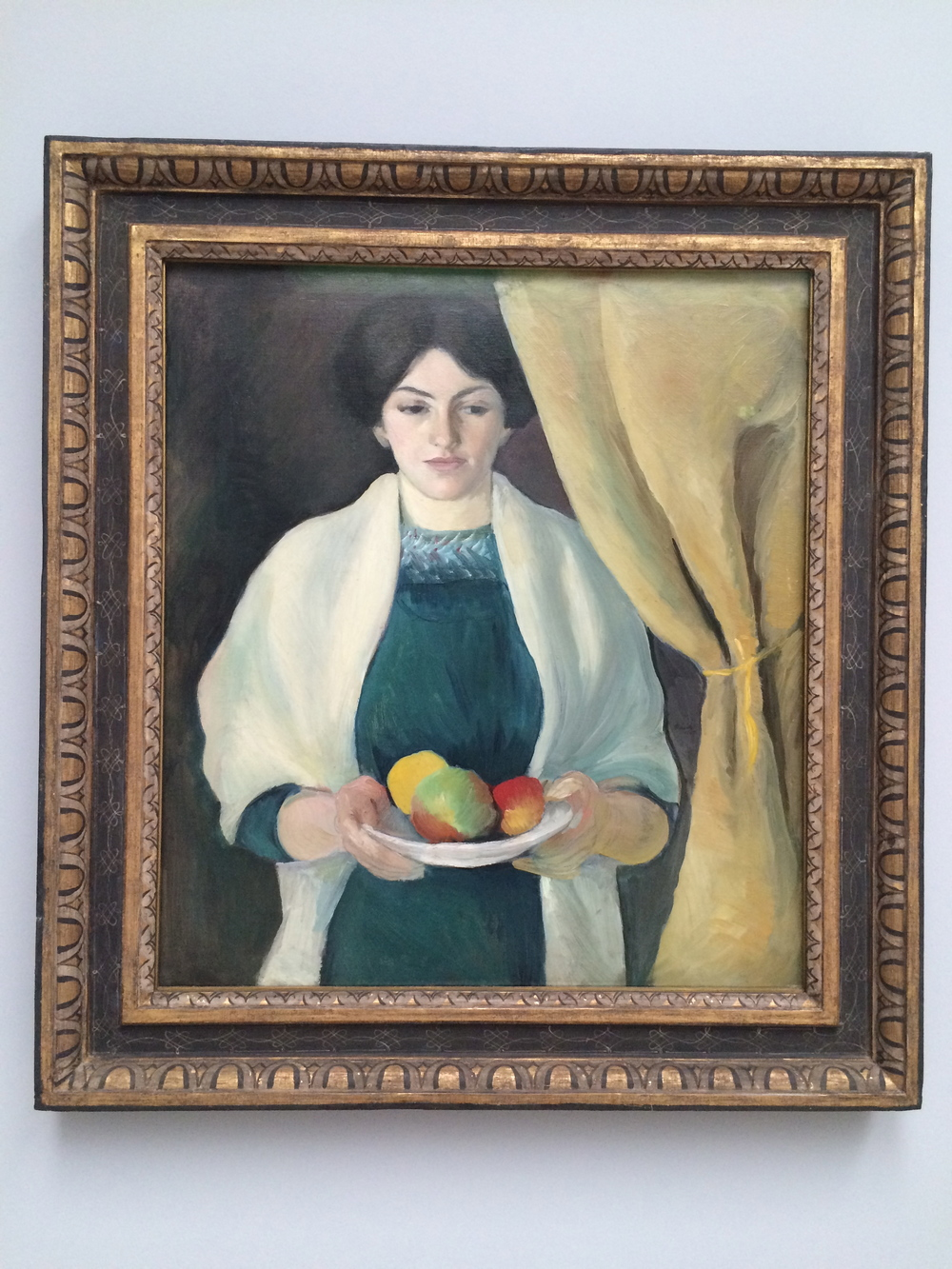 Portrait with Apples, August Macke