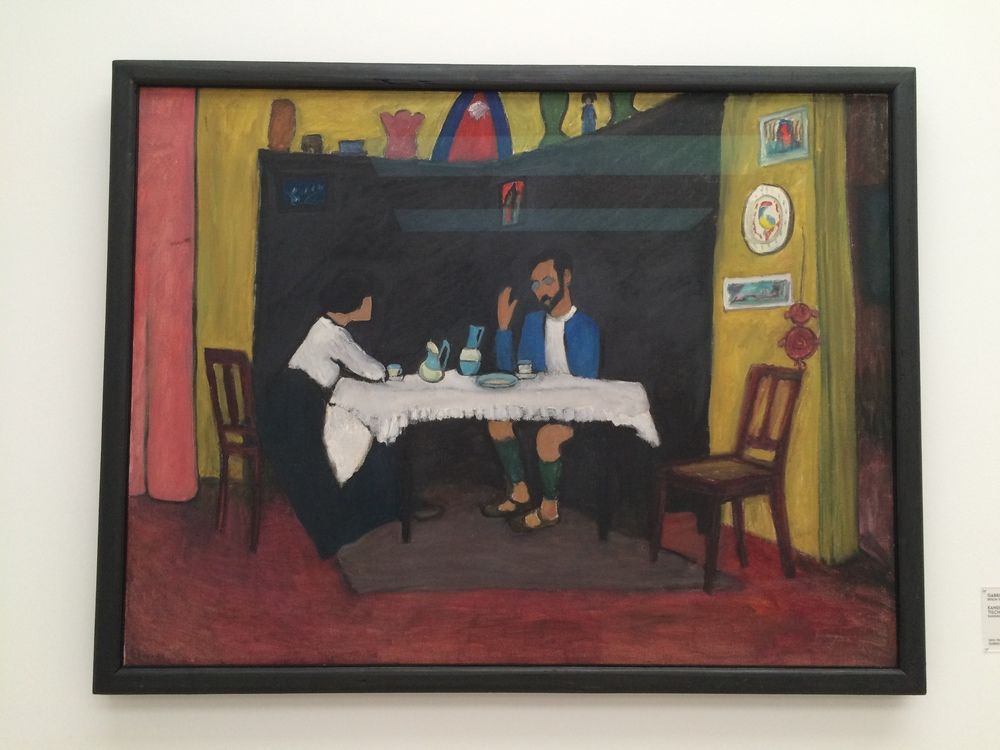 Kandinsky and Erma Bossi at the table, Gabriele Münter