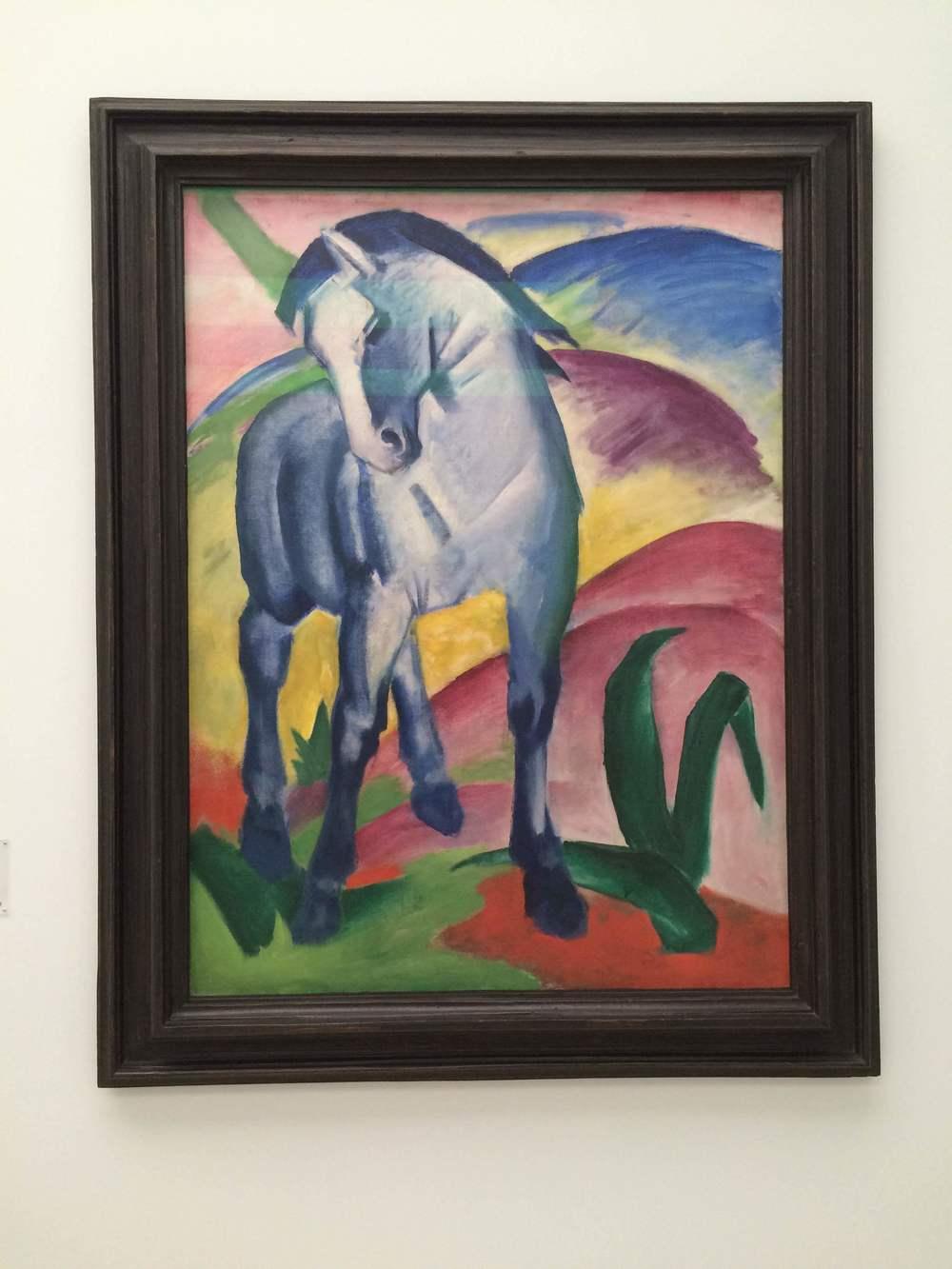 Franz Marc's Blaues Pferd I