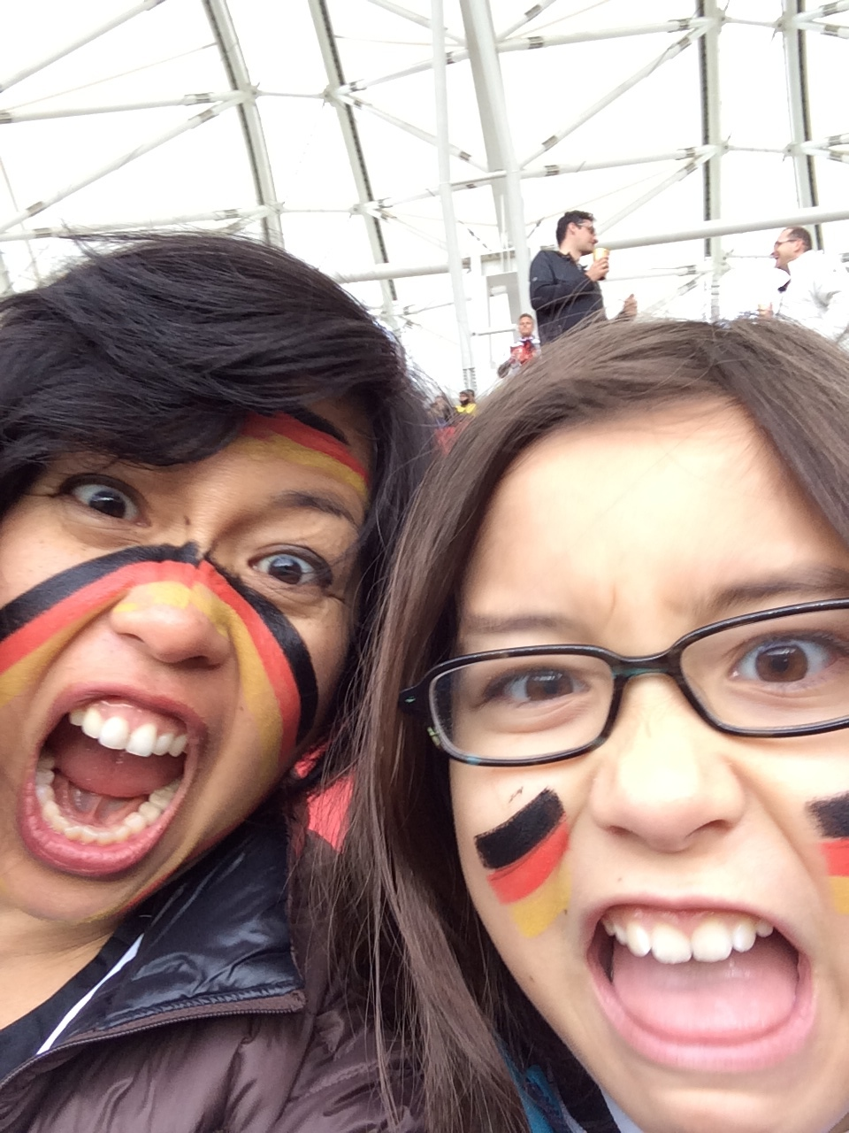 Luisa and I at the World Cup in Brazil! We meant business.
