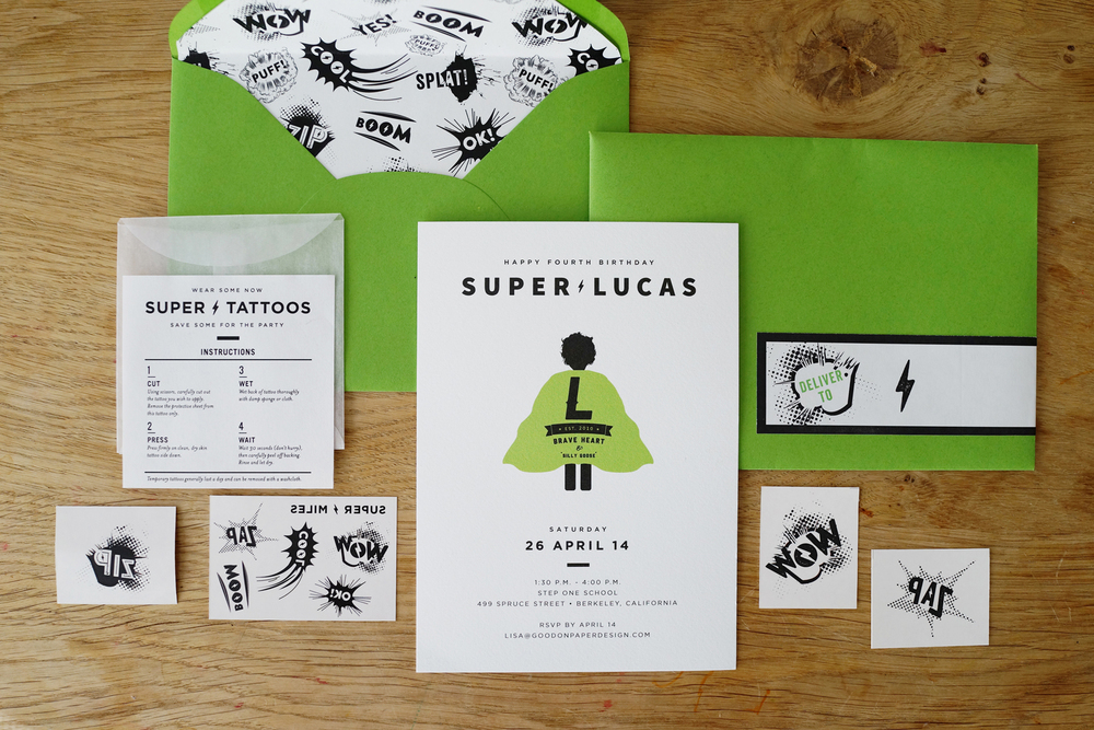 SuperLucas4thBirthday_1 - www.goodonpaperdesign.com/blog