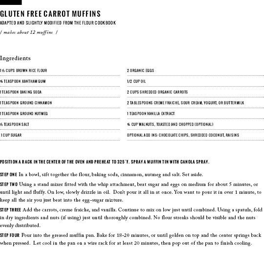 Gluten Free Carrot Muffins / www.goodonpaperdesign.com/blog