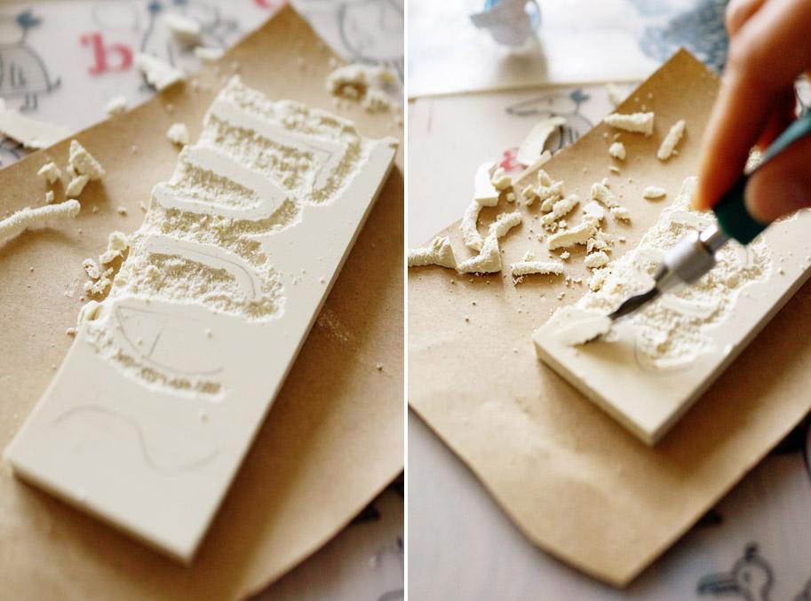 DIY Kids Project: Hand Carved Stamps / www.goodonpaperdesign.com/blog / @good_on_paper