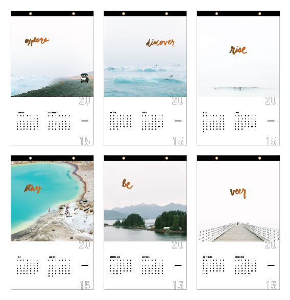 2015 Calendar - Jennifer Young Studio x Good on Paper / www.goodonpaperdesign.com/blog / @good_on_paper