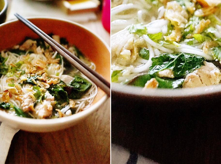 Recipe: Vietnamese Chicken Noodle Soup / www.goodonpaperdesign.com/blog / @good_on_paper