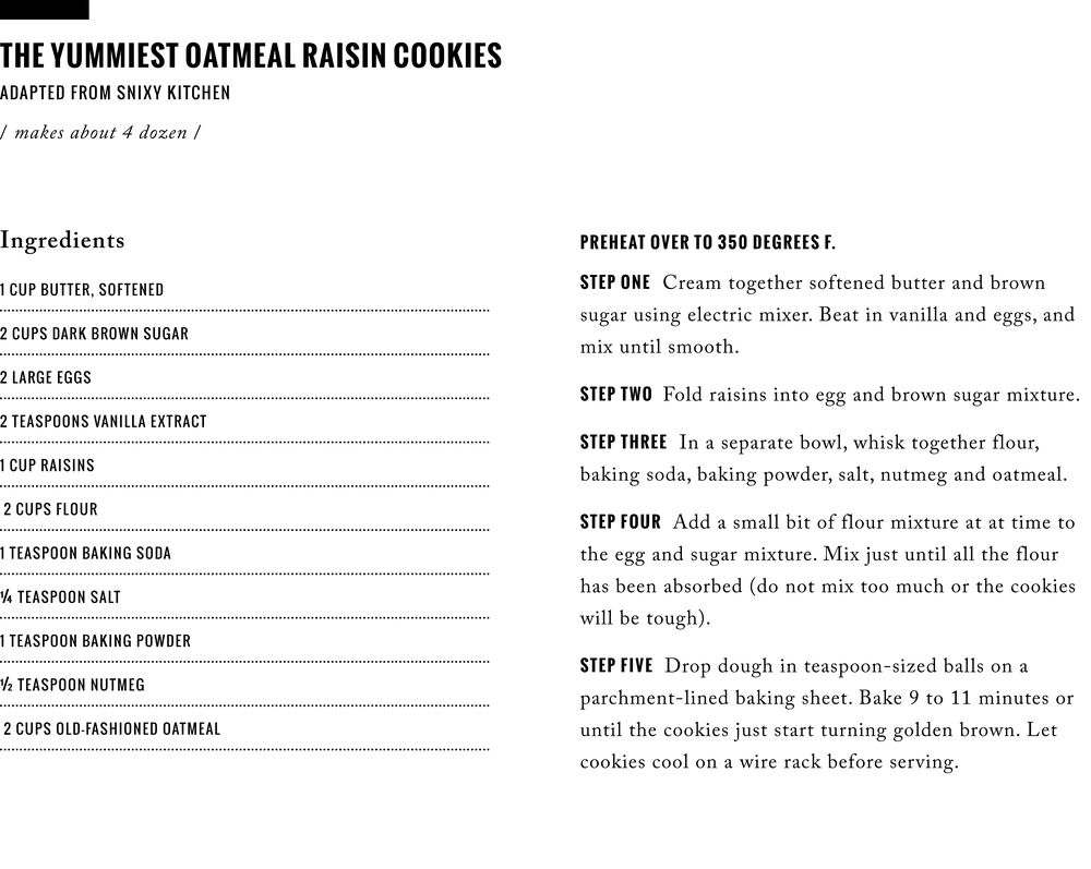 Recipe: The Yummiest Oatmeal Raisin Cookies / www.goodonpaperdesign.com/blog / @good_on_paper