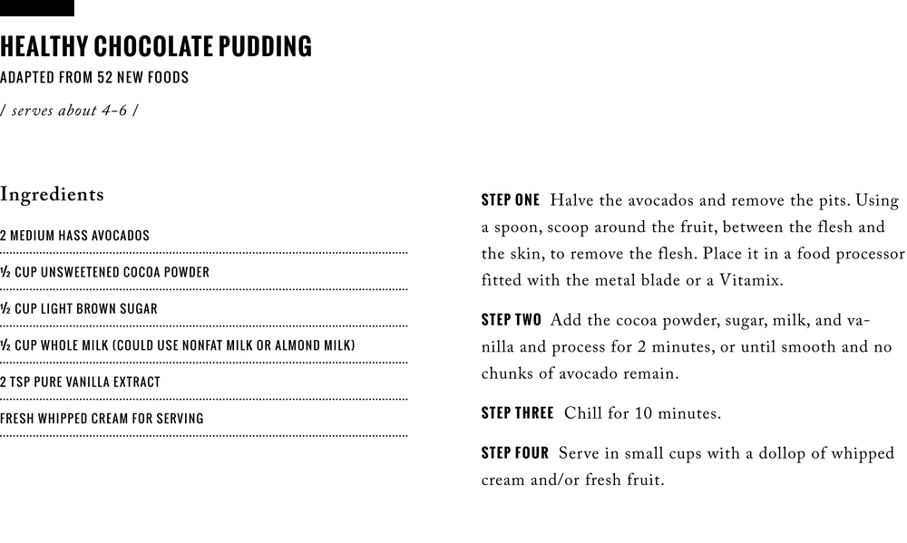 Recipe: Healthy Chocolate Pudding  /  www.goodonpaperdesign.com/blog  /  @good_on_paper