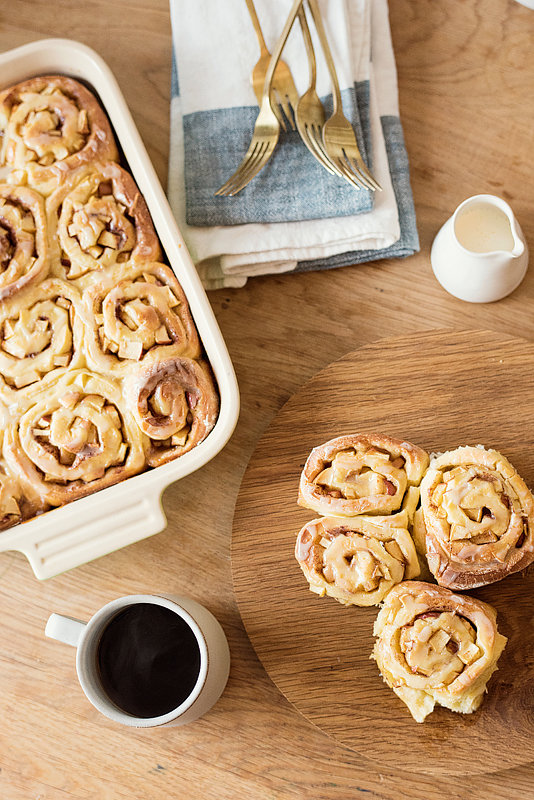 West Elm Collaboration - Overnight Apple and Pear Cinnamon Morning Buns  /  goodonpaperdesign.com/blog  /  @good_on_paper  /  photo by Sarah Hebenstreit of Modern Kids