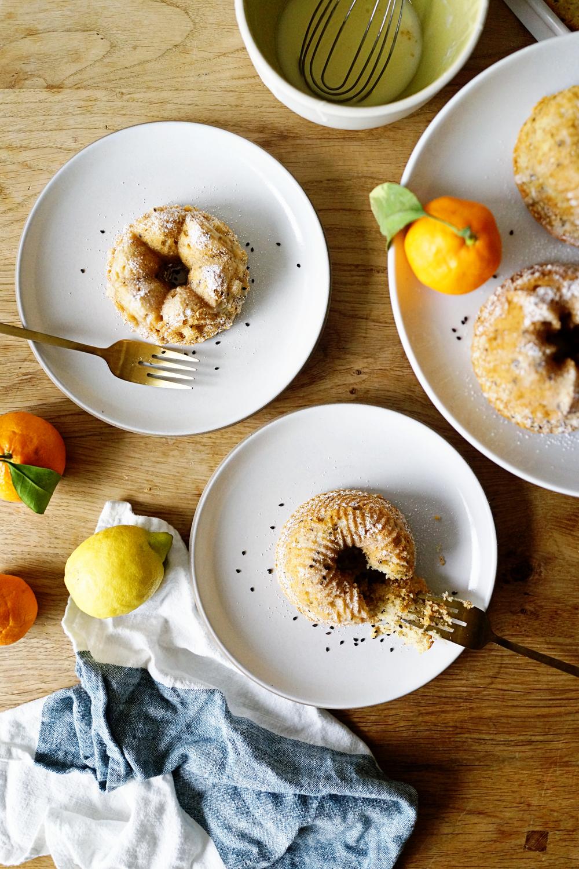 Gluten Free Citrus Ricotta Mini Cakes for Virtual Baby Shower Good