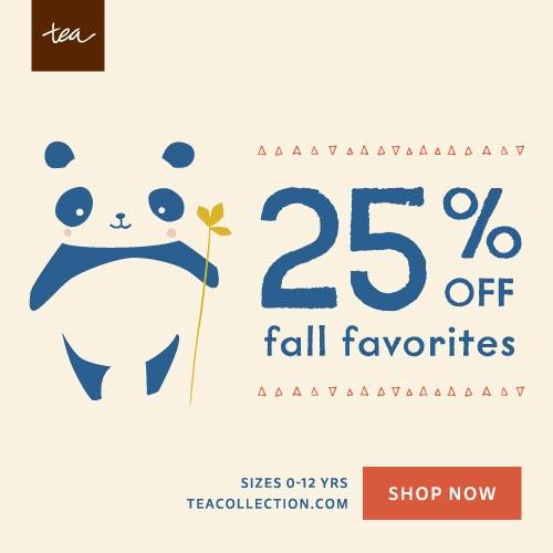 25% off Select Fall Favorites
