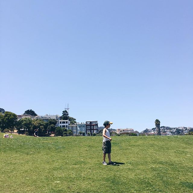 Wish I were still at Dolores Park in #sanfrancisco on a kid date ☀️