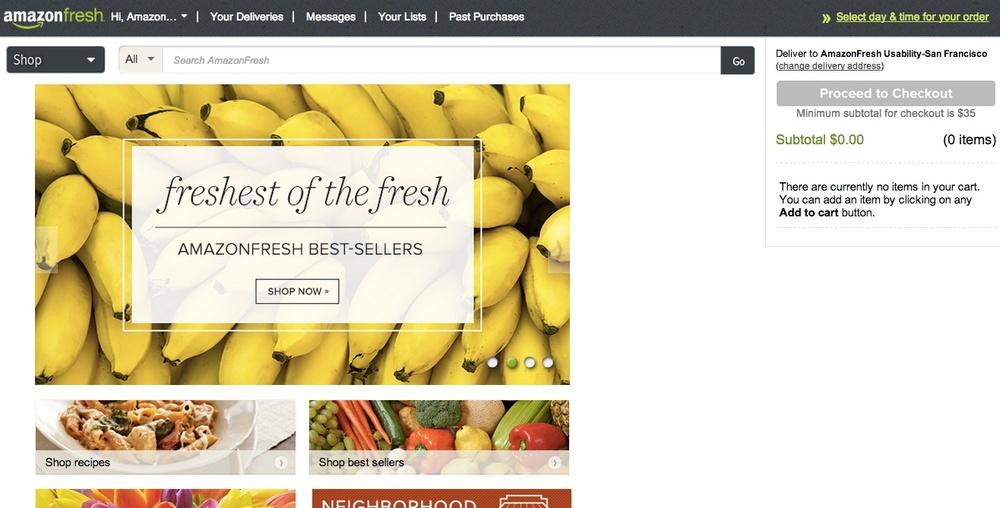 AmazonFresh Homepage