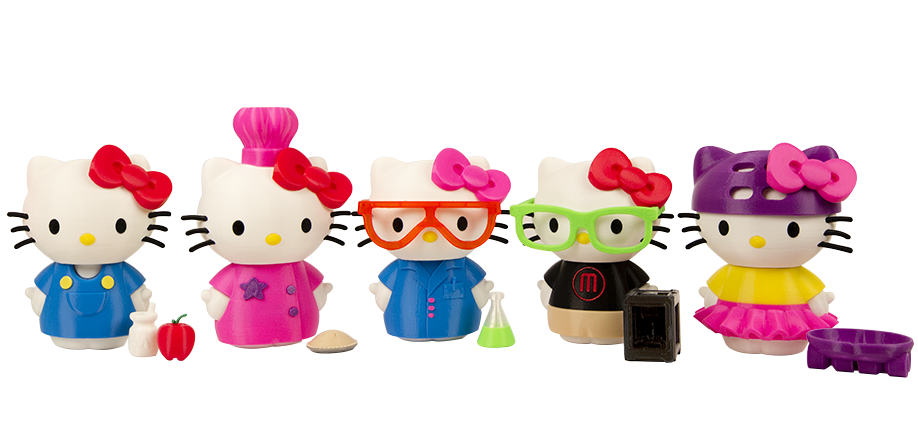 Makerbot, Thingiverse, Mastech, 3D printer, Hello Kitty