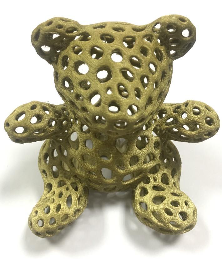此為金屬色PLA列印成品。