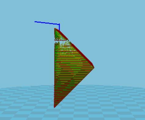 設定60度長支撐材。則物件只有45度,所以就不長支撐材了