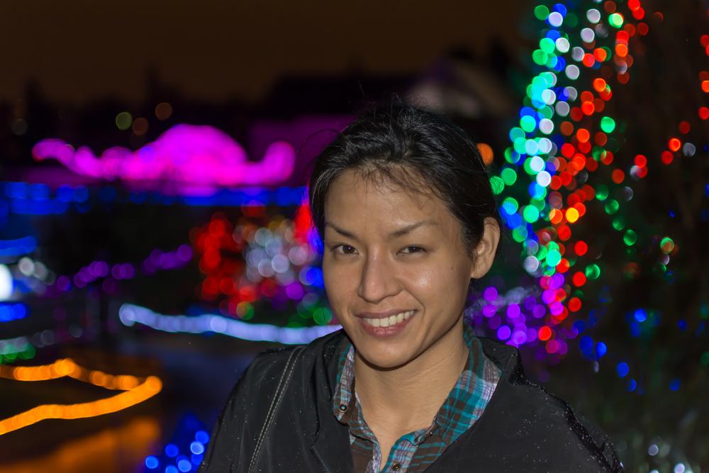 Christine at Zoolights. January 2nd 2014