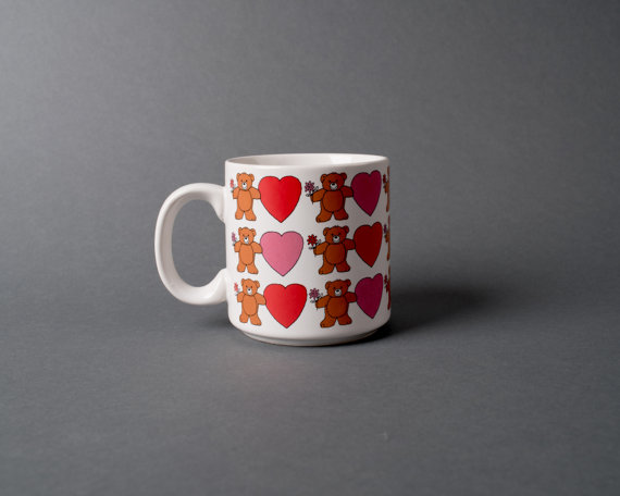 Heart of it All Vintage Sweet Little Teddy Bear Coffee Mug