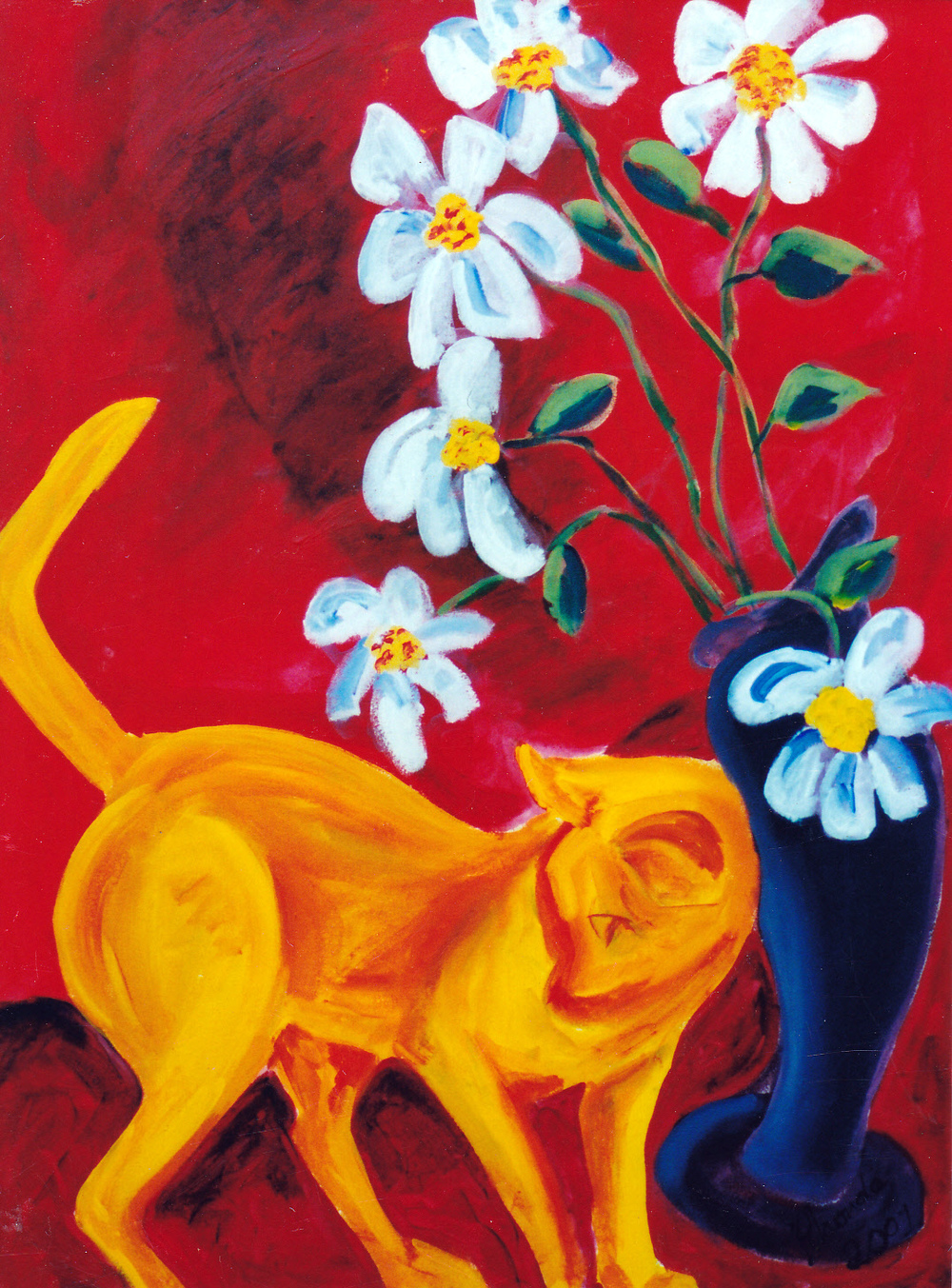 Cat on the Cupboard, Acrylic on Canvas, 105cm x 60cm.jpg