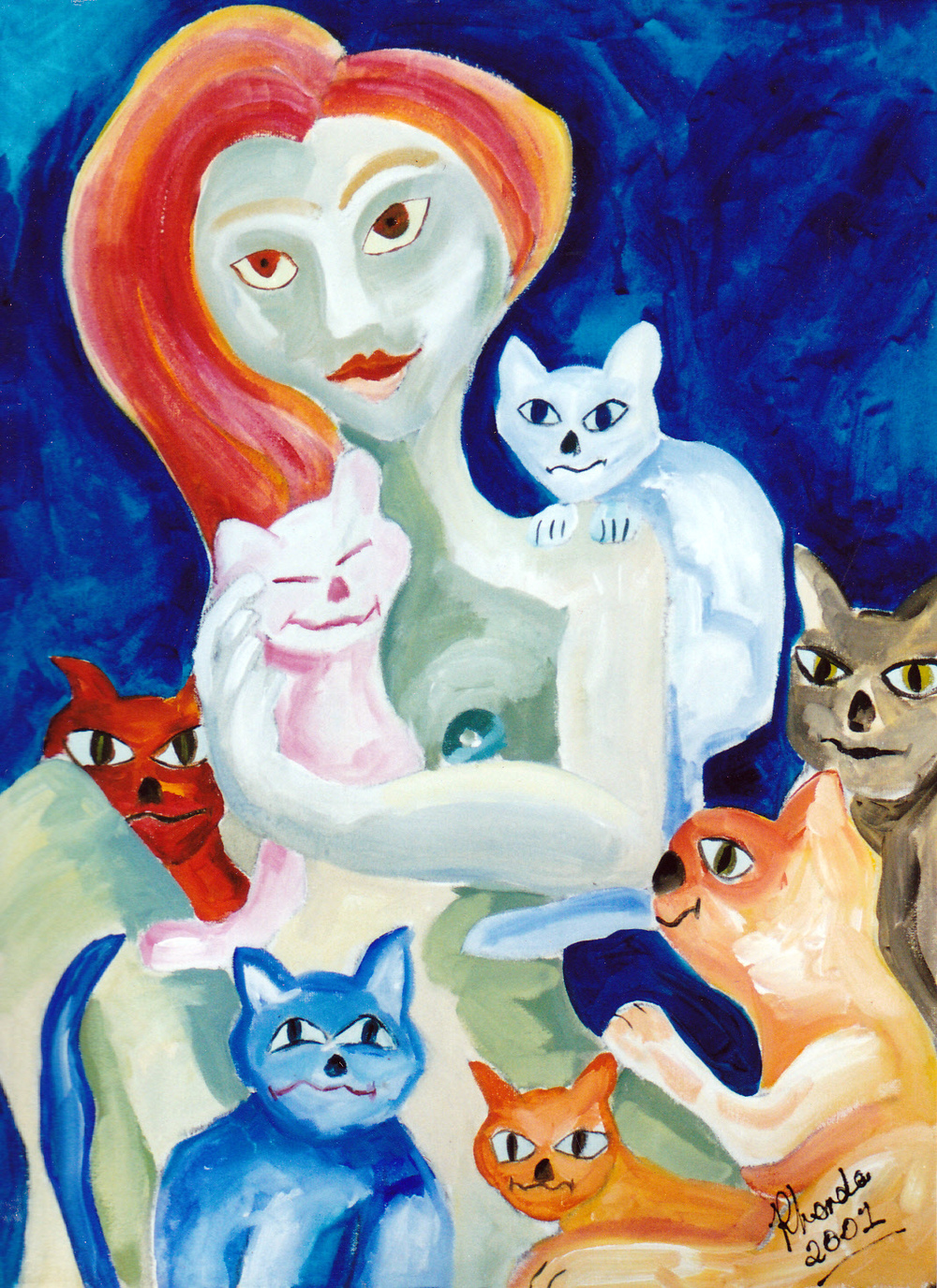 Catwomen, Acrylic on Canvas, 105cm x 60cm.jpg