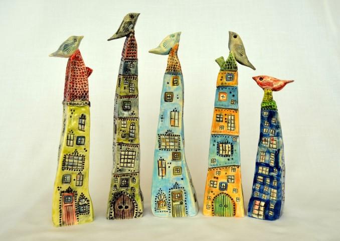 Rhonda Nadasdy Ceramic Houses_Earthenware Paper Clay & underglazes.JPG