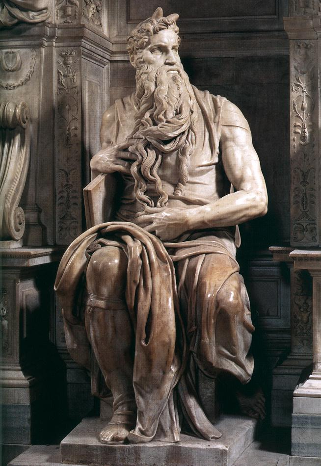 The Moses Michelangelo Buonarroti (1475 – 1564) San Pietro in Vinvoli, Rome Marble (Height: 235cm) c. 1513 - 1515