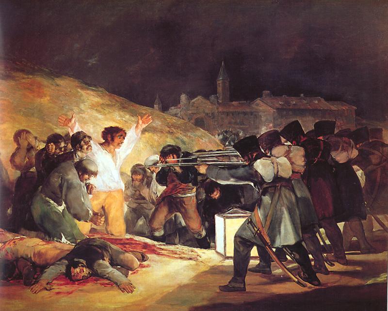 The Third of May 1808 Francisco Goya (1746 – 1828) Museo del Prado, Madrid Oil on Canvas, (268cm x 347cm) 1814