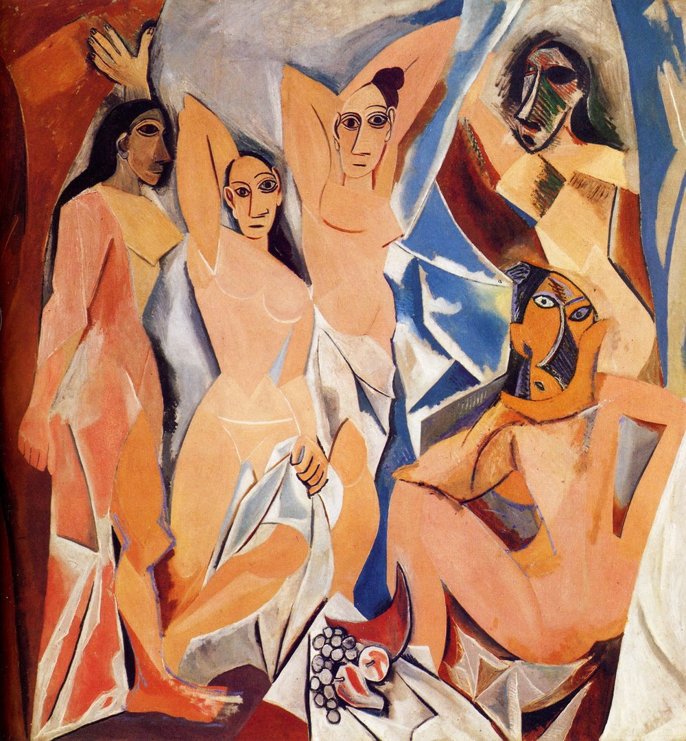 Les Demoiselles d'Avignon (The Young Ladies of Avignon) Originally titled: The Brothel of Avignon Pablo Picasso (1881 – 1973) Museum of Modern Art, New York Oil on Canvas (243.9cm x 233.7cm) 1907