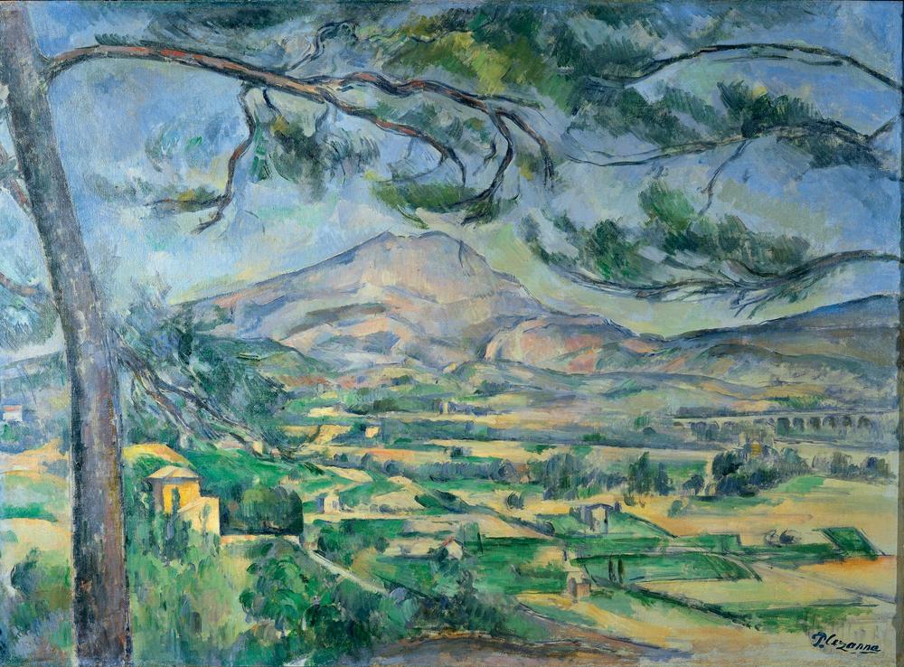 Paul Cézanne,  Mont Sainte-Victoire , c. 1887, Courtauld Institute of Art.