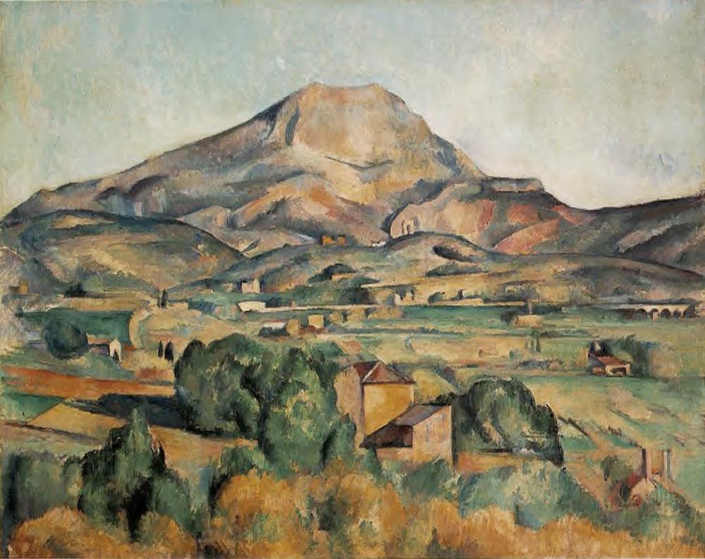 Paul Cézanne,  Mont Sainte-Victoire seen from Bellevue , c. 1886, Barnes Foundation, Philadelphia.